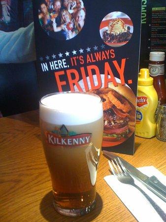 TGI Friday's: пиво