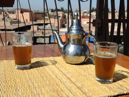 Souks de Marrakech - pause thé