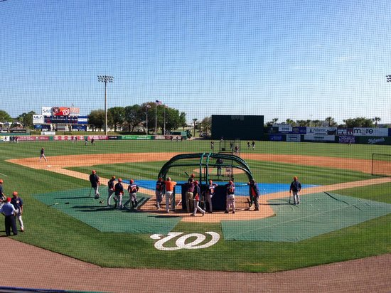 Space Coast Stadium: batting practice