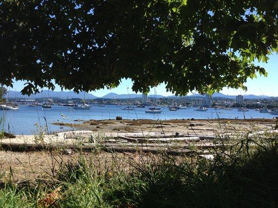 Newcastle Island: Picnic looking back at downtown Nanaimo
