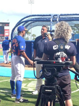 First Data Field: Ron Darling interviewing Curtis Granderson for MLB