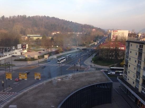 Hotel Lev Ljubljana: uitzich vanuit de kamer