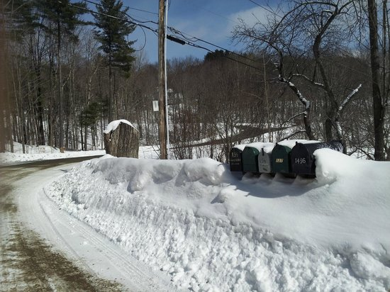 West Hill House B&B: Mailboxes in Snow