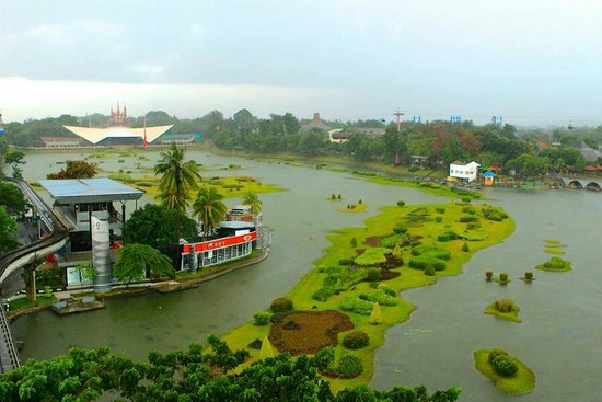 Beautiful Indonesia in Miniature Park : Aerial view from cable car