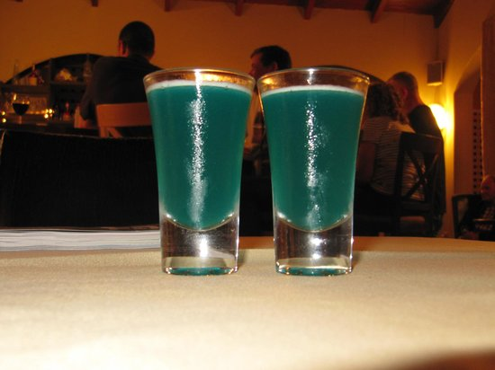 The Blu Pineapple Restaurant and Bar: Blu Pineapple Shots - before......