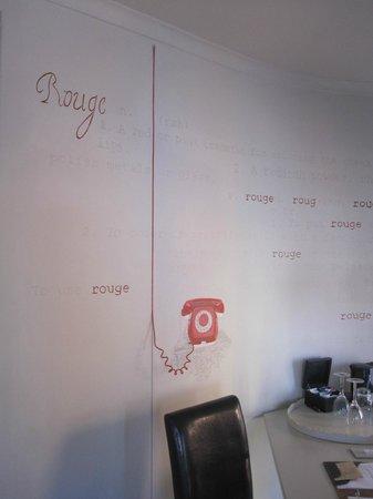 Rouge on Rose : Fun artwork in my room
