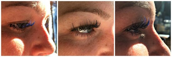 Urban Retreat: Eyelash Extensions with a subtle pop of color!