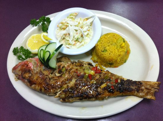 Suncoast Cafe: Whole Red Snapper Caribbean Style!