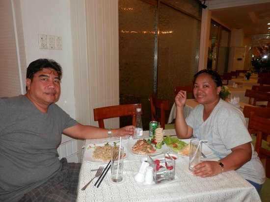 Alagon Saigon Hotel & Spa : At the restaurant after shopping