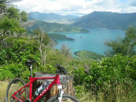 Anakiwa, New Zealand: Mountain biking the Queen charlotte track