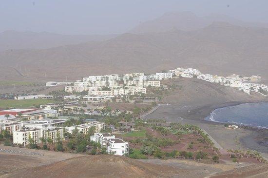 Playitas Hotel: Utsikt över hotellet från söder