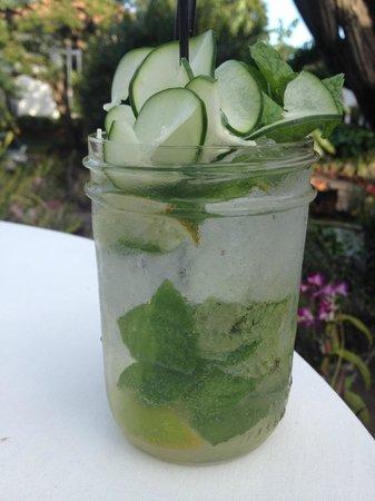 Plantation Gardens Restaurant: Cucumber Mojito - isn't it beautiful!
