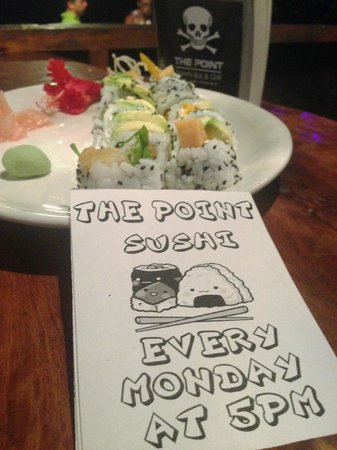 The Point Sports Bar & Grill: Sushi every Monday