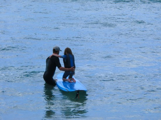 Surf HNL: Brian with our daughter