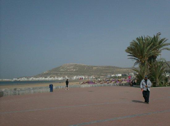 Club Med Agadir : strand met mooie nieuwe boulevard