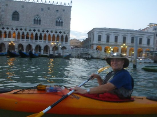 Venice Kayak: In front of the Bridge of Sighs.