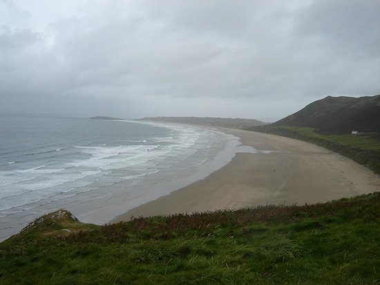 Rhossili Bay: From the path out to the point