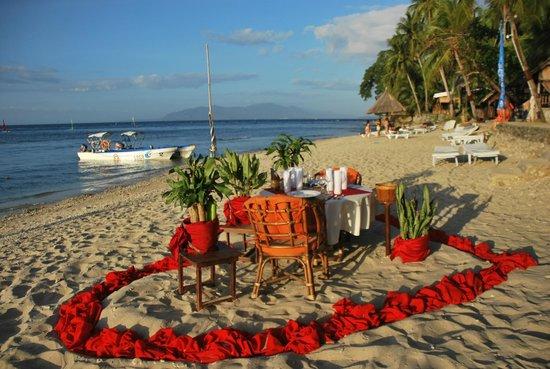 Coco Beach Resort: organisation de diners en amoureux sur la plage