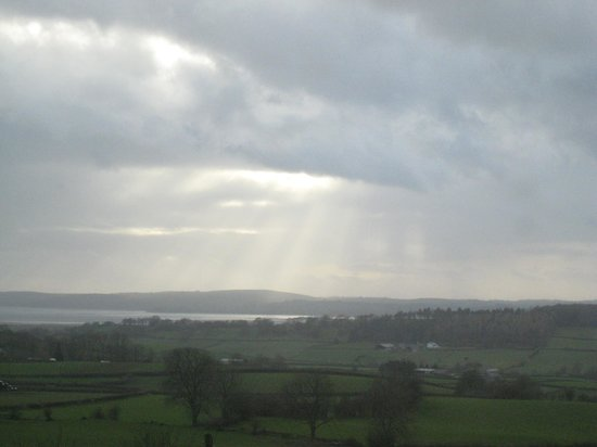 Uplands Hotel: View of estuary from Leven room (zoomed)