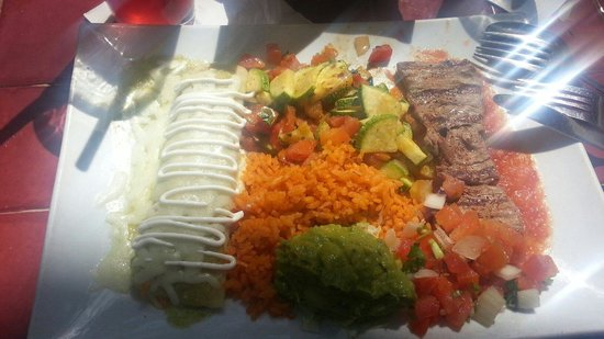 La Fonda on Main : Everything was awesome! Best enchilada queso verde was the best I've ever had! And the lemonade