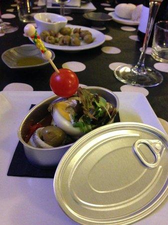Restaurante Casa de las Piedras : starter with surprise!