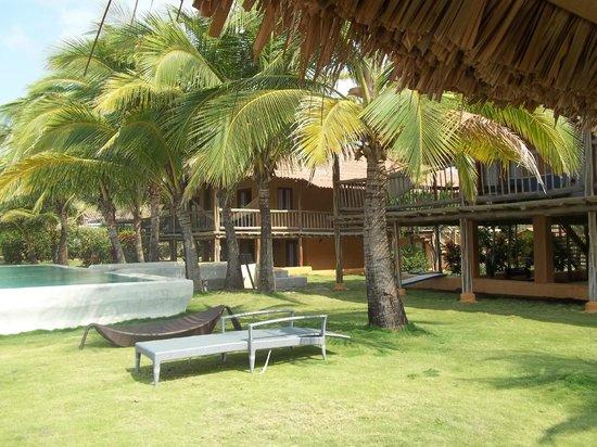 El Sitio Playa Venao: vista a las habitaciones y piscina