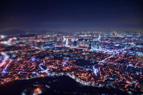 N Seoul Tower: Night Scenic of Seoul