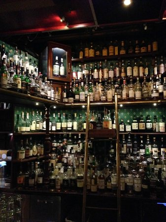 Akkurat Bar & Restaurant: Just a sampling of the liquor....