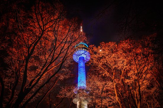 On the way walking up to N Seoul Tower