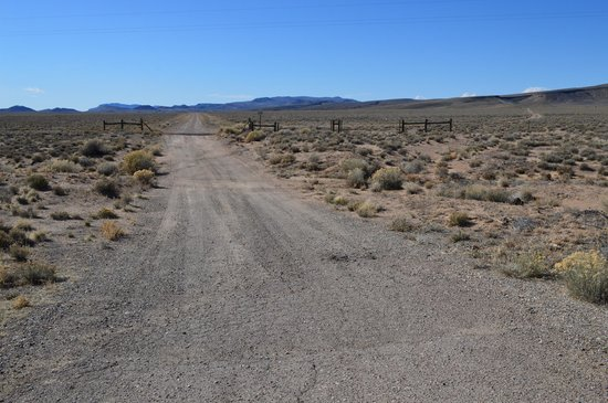 Lunar Crater Back Country Byway : The road. Taken from the highway.