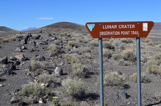 Lunar Crater Back Country Byway: The view into the crater is pretty much the same from all angles.
