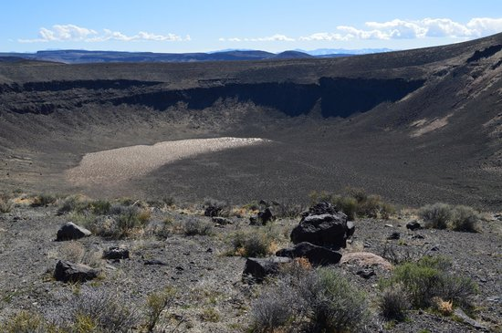 Lunar Crater Back Country Byway: The picture looks like water at the bottom, but it was not.