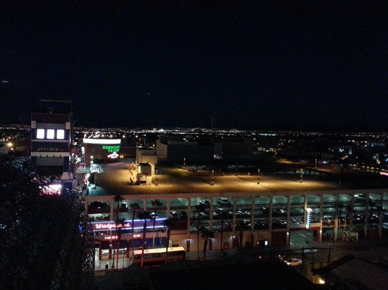 The D Casino Hotel Las Vegas: My view at night. 11th Floor.
