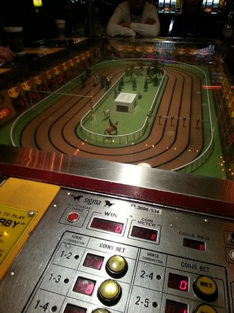 The D Casino Hotel Las Vegas: This is the Sigma Derby horse racing game - the most fun I've ever had in a Vegas casino.
