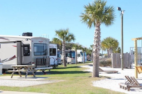 Perdido Cove RV Resort & Marina: Premium Beachfront RV Sites