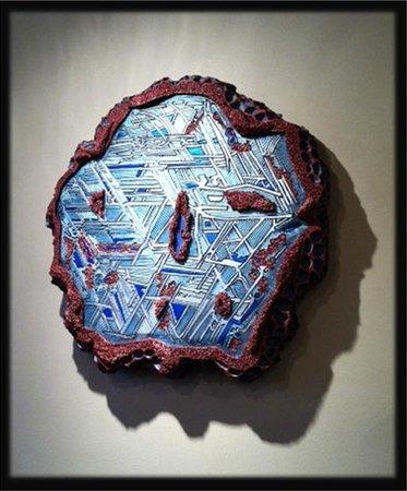 Pam Foss Fine Art : Celestial Fragment/mixed media wall sculpture