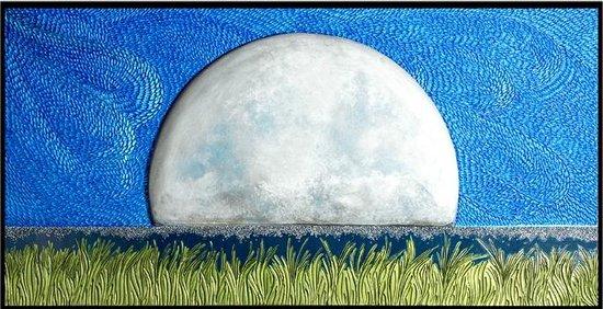 Pam Foss Fine Art : Moon Shadow/Mixed media wall sculpture
