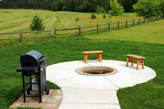 Spring Brook : Beautiful fire pit off the back porch on hole number one