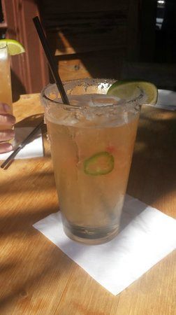 The Cottage Restaurant: Watermelon Jalepeno Margarita…Awesome