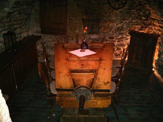 Zur Holl - Mittelalterliche Trinkstube : The bellows table in the oldest part of the restaurant