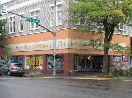 Many Hands Trading on Madison and 3rd! Best shop in Corvallis, Oregon!