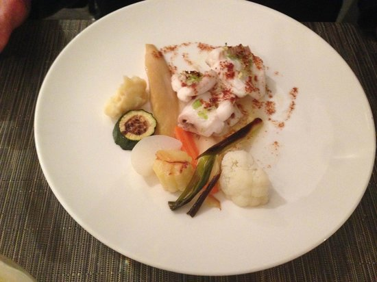 L'Huitrier Pie : Sole with a quartet of vegetables