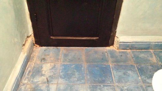 Riad Dar Zinnia: Crumbling wall in bathroom