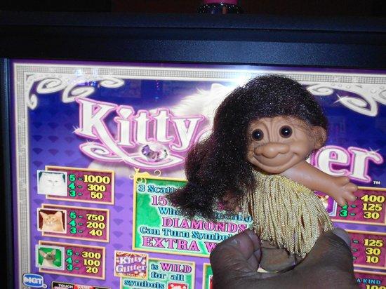 Choctaw Casino Resort: Pocahontas on her favorite slot machine