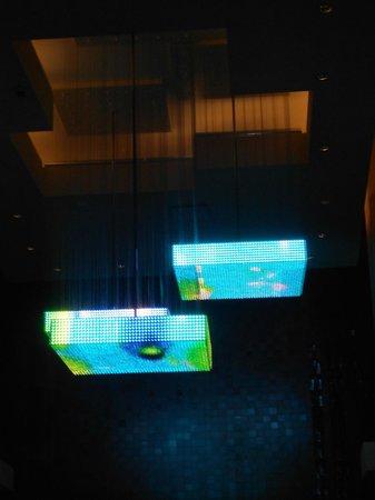 "Choctaw Casino Resort: ""Las Vegas"" type lighting near elevator"