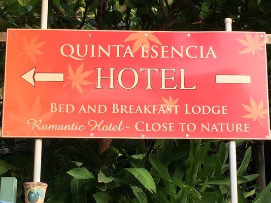 Quinta Esencia B&B: romantic hotel