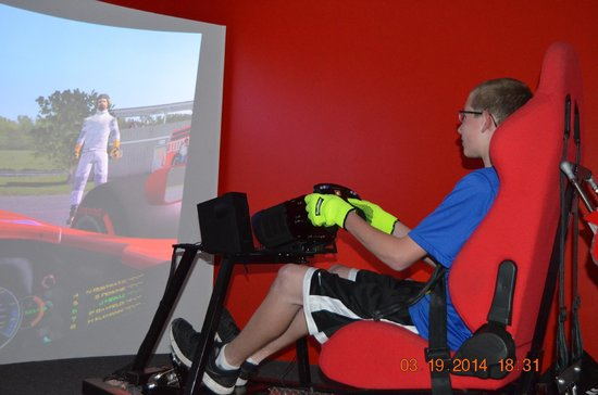 SimCenter: Driving the Formula One race car.