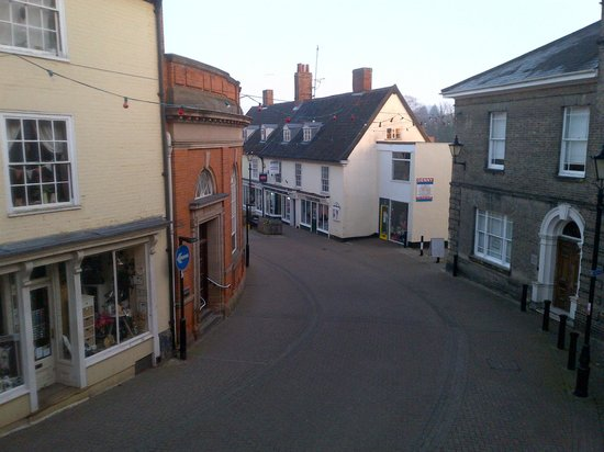 The Angel Hotel: The view from the room, looking down the Thoroughfare