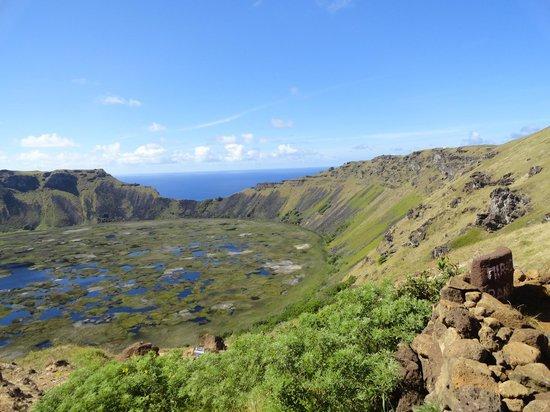 Rapa Nui National Park : Vista vulcão Orongo