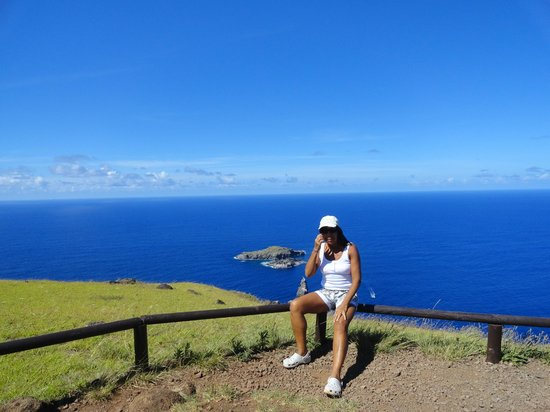 Rapa Nui National Park : Sitio Orongo com Ilhas ao fundo